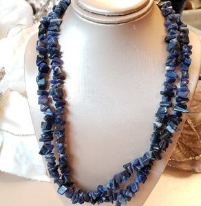 Vintage Ralph Lauren Double Strand Lapis Necklace